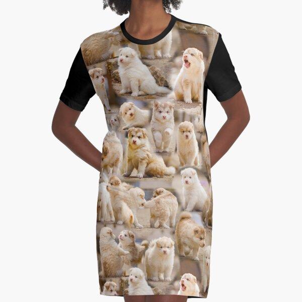 Loitsu - Finnish Lapphund Puppies Graphic T-Shirt Dress