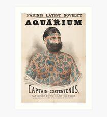 Vintage Tattoo Print von Kapitän Costantenus Kunstdruck