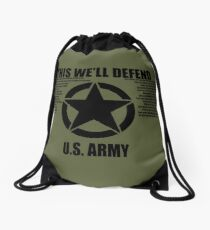 "US Army ""This We'll Defend"" Drawstring Bag"