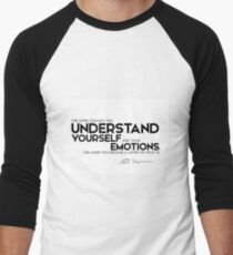 understand yourself and your emotions - spinoza Men's Baseball ¾ T-Shirt