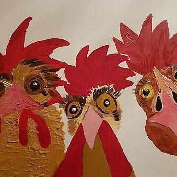 «Juste les trois d'entre nous - Doin Nuffink !!!» par AbigailBarryArt