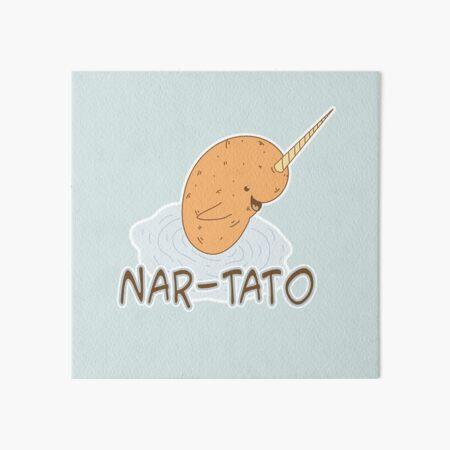 NAR-TATO - Narwhal Potato Hybrid Art Board Print