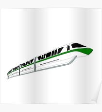 Green Monorail Poster