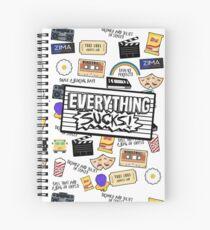Everything Sucks Logo Spiral Notebook