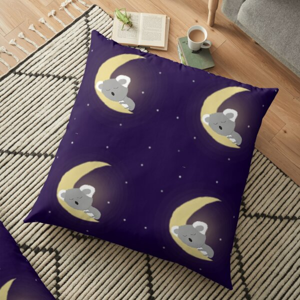 Koala on the Moon Floor Pillow