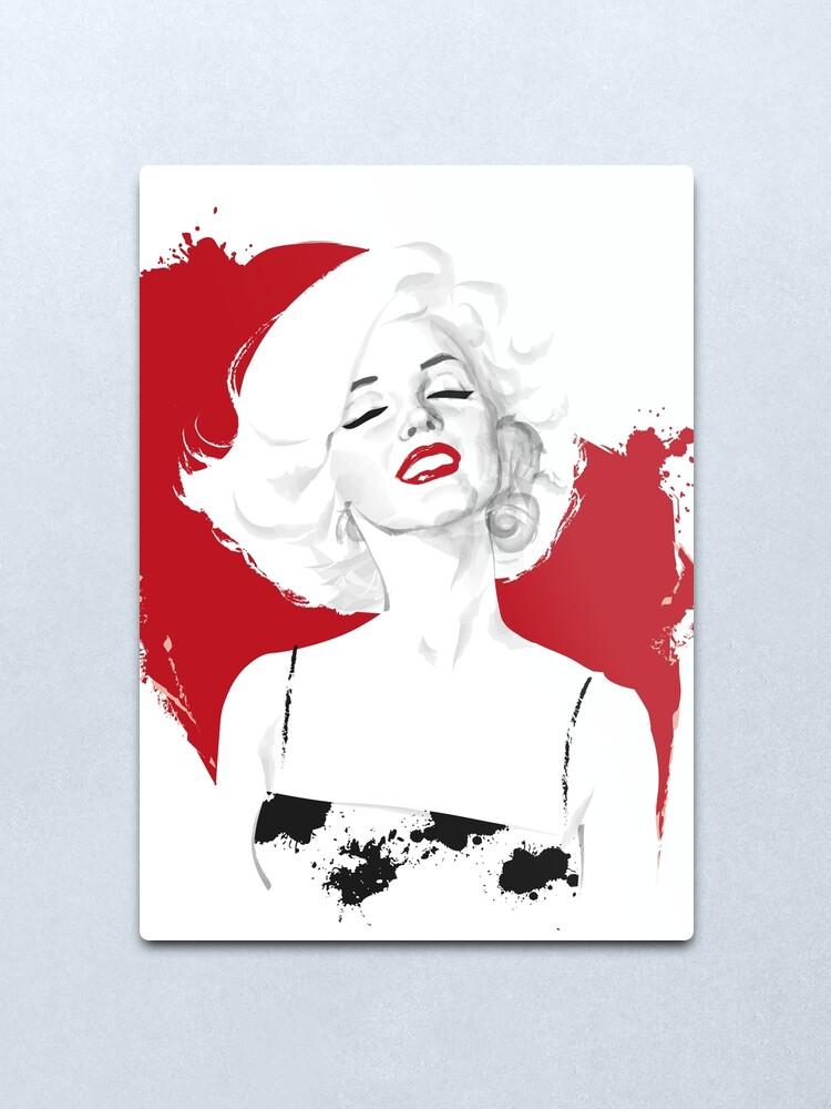 Alternate view of Marilyn Test Metal Print