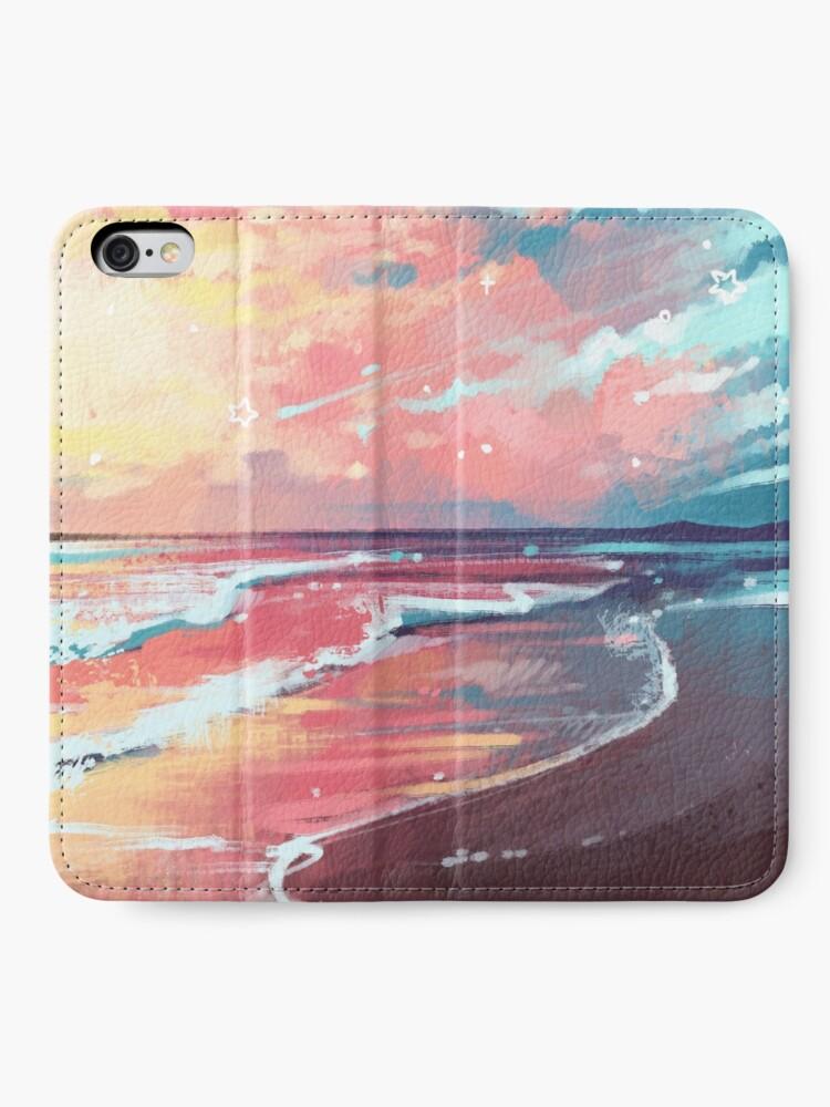 Étui portefeuille iPhone ''Étude de la mer': autre vue