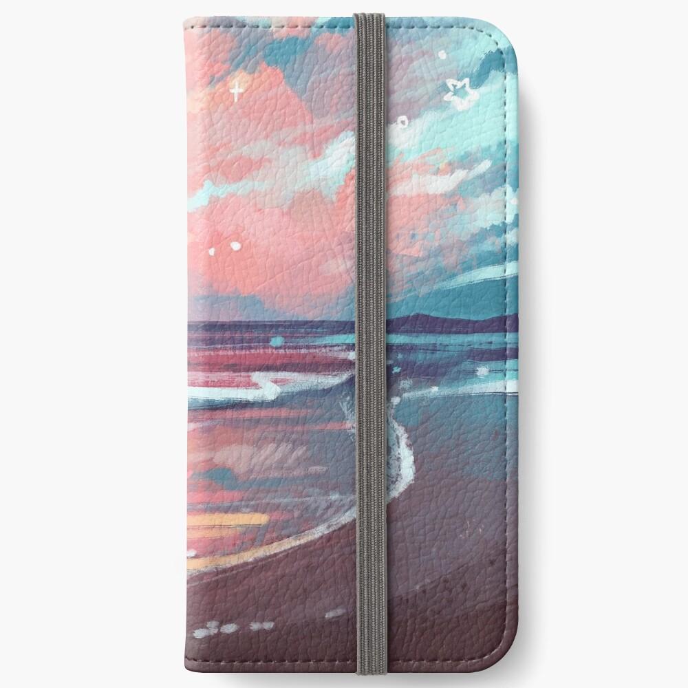 Étui portefeuille iPhone «Étude de la mer»