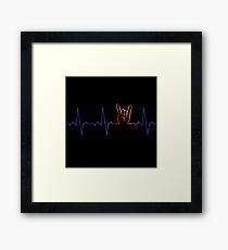 ROCK ON ECG Framed Print