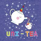 Uni-Tea - Cute Unity Rainbow Tea Pot & Cup by jitterfly