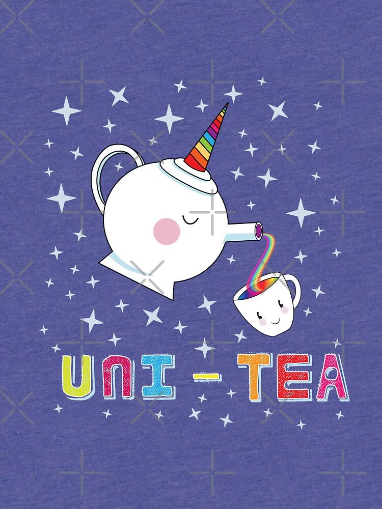 Uni-Tea - Cute Unity Rainbow Tea Pot & Cup by jitterfly