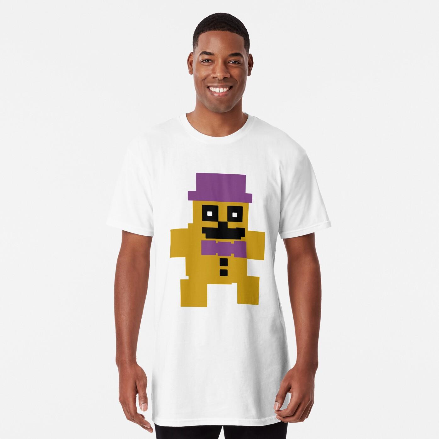 FNAF Psychic Friend Fredbear 8-bit   Long T-Shirt