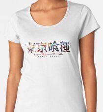 Camiseta premium de cuello ancho Logotipo de Tokyo Ghoul Color Splash
