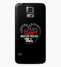 The Road To My Heart Is Paved With Miniature Pinscher Paw Prints - Gift For Passionate Miniature Pinscher Dog Owners Case/Skin for Samsung Galaxy