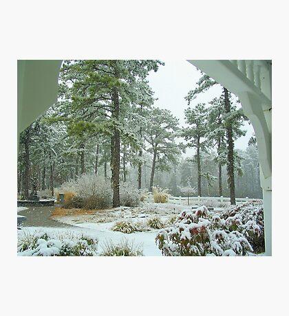Snow Scene  from The Gazebo  Photographic Print