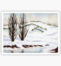 Snow- Landscape Sticker