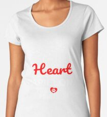 The Road To My Heart Is Paved With Papillon Paw Prints - Gift For Passionate Papillon Dog Owners Women's Premium T-Shirt