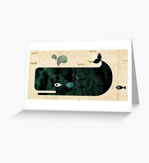 Whale on Whaler's log Greeting Card