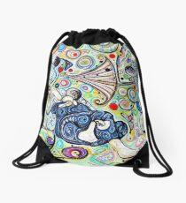 Let's Roll - Jiu-Jitsu - Bjj Art - Painting By Kim Dean Drawstring Bag