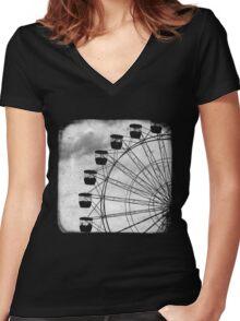Ferris Wheel - TTV Women's Fitted V-Neck T-Shirt