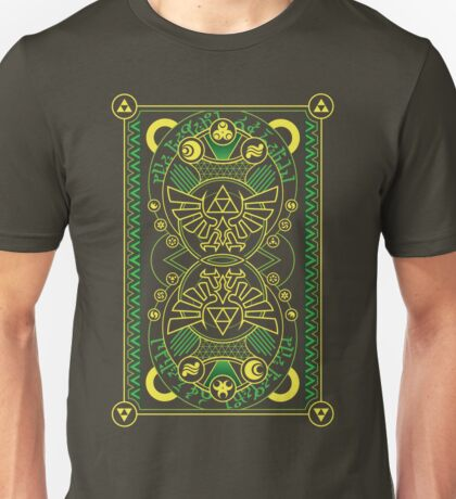 Card Back - Hylian Court Legend of Zelda Unisex T-Shirt