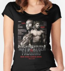 Mayweather vs Pacquiao Shirt  Women's Fitted Scoop T-Shirt
