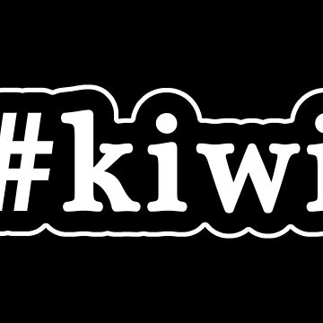 Kiwi - Hashtag - Black & White by graphix