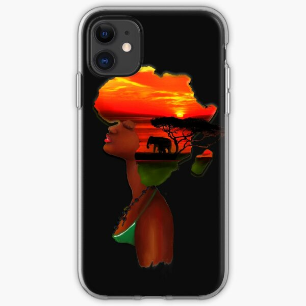 African Sunset iPhone Soft Case