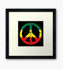 Rasta Peace and love - Distressed Framed Print