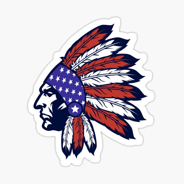 Native American Flag America Indians History Sticker