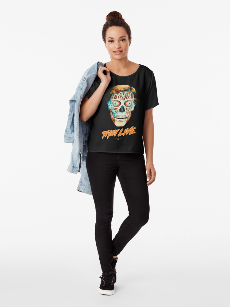 Alternate view of They Live - Classic Movies Chiffon Top