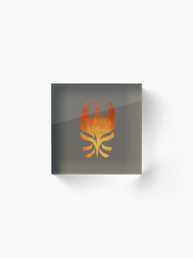 Alternate view of The Rebels Podcast Phoenix Flame Acrylic Block