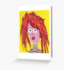 Fille - Martin Boisvert - Faces à flaques Carte de vœux