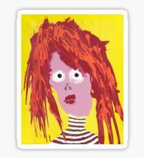 Fille - Martin Boisvert - Faces à flaques Sticker