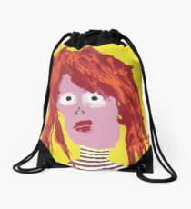 Fille - Martin Boisvert - Faces à flaques Drawstring Bag