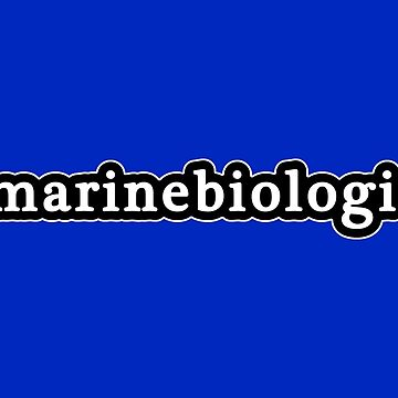 Marine Biologist - Hashtag - Black & White by graphix