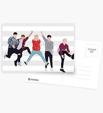Boyband Stripes Postcards