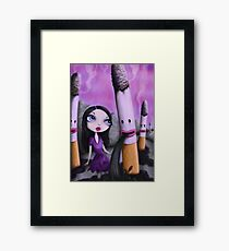 Addicted - pop surrealism / low brow art Framed Print