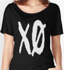 XO Slash [White] Women's Relaxed Fit T-Shirt