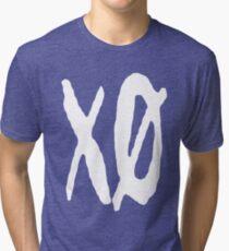 XO Slash [White] Tri-blend T-Shirt