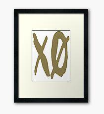 XO Slash [Gold] Framed Print
