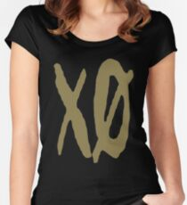 XO Slash [Gold] Women's Fitted Scoop T-Shirt
