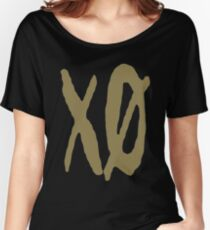 XO Slash [Gold] Women's Relaxed Fit T-Shirt