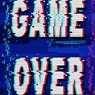 Game Over Glitch Text Distorted by BluedarkArt