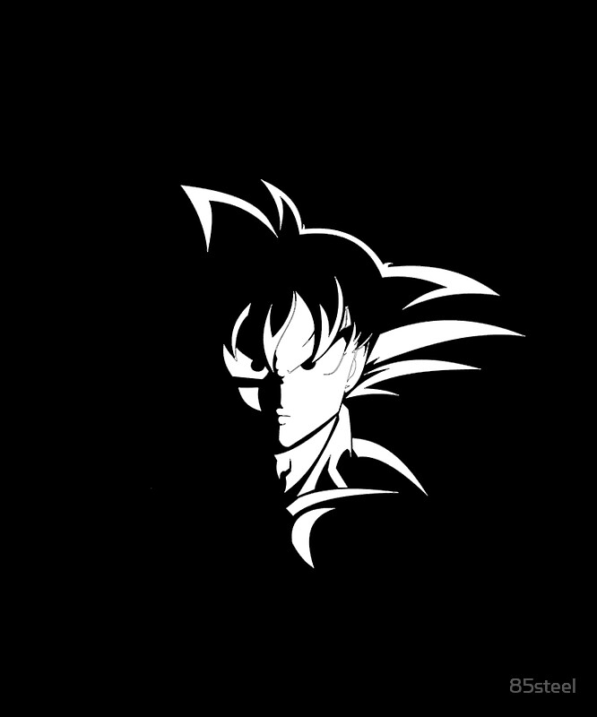 Cool goku silhouette shirt dbz shirt unique dragon ball z shirt decal perfect