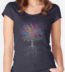 Camiseta entallada de cuello ancho Crece en los árboles - Color