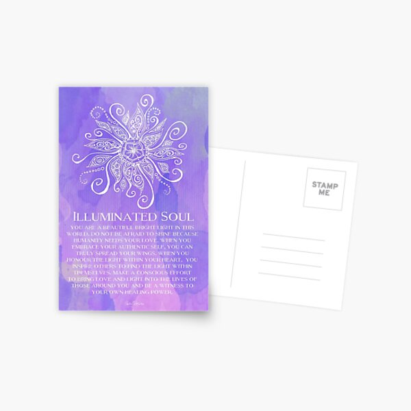 Illuminated Soul Postcard