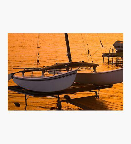Twin Hull Sunset Photographic Print