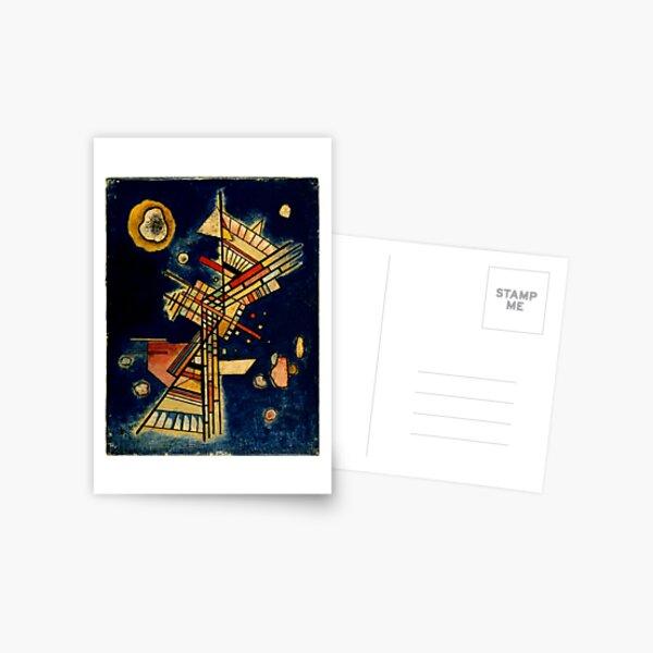 Kandinsky - Dark Freshness, abstract art Postcard