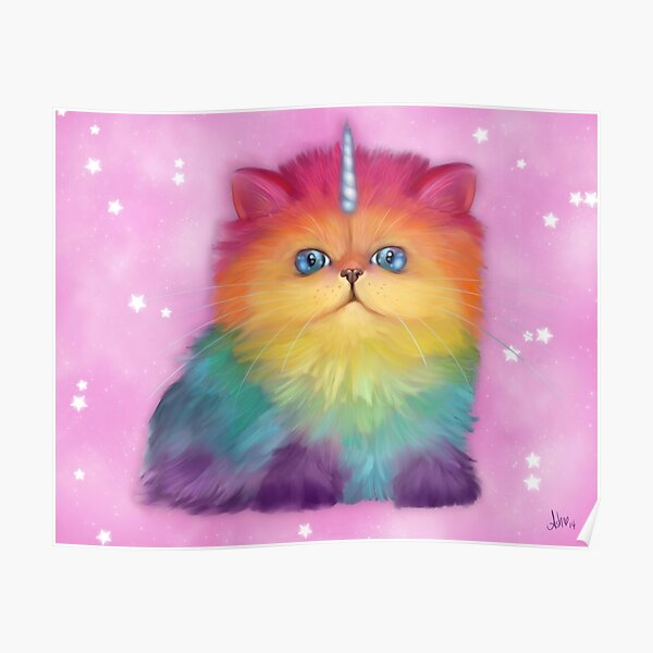 Rainbow Mewnicorn™ Poster